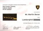 Lamborghini training Spyder